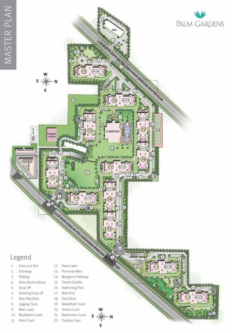 Emaar MGF Palm Gardens Dwarka Expressway, Gurgaon Flats & Apartments, Luxury