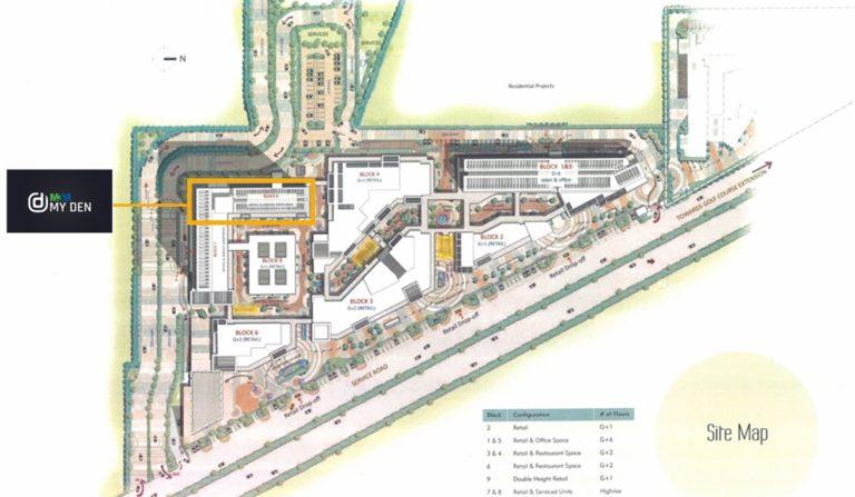 M3M My Den Golf Course Extension Road, Gurgaon Apartment, Commercial, Multiplexes, Residential, Retail Shop-Site-Plan