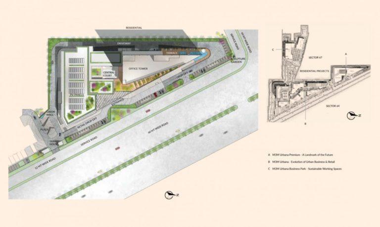 M3M Urbana Premium Golf Course Extension Road, Gurgaon Commercial, Retail Shop-Site-Plan