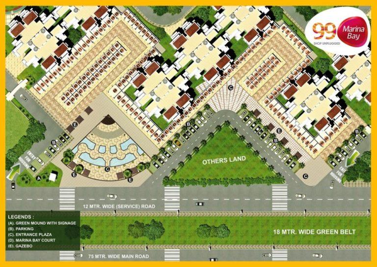 Pivotal 99 Marina Bay Dwarka Expressway, Gurgaon Commercial, Retail Shop-Layout