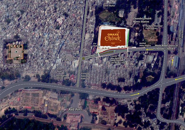 Omaxe Chandni Chowk Delhi Delhi Commercial Retail Shop Location-Map