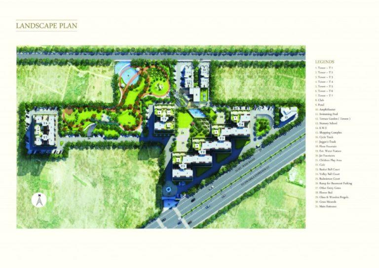 Pareena Coban Residences Dwarka Expressway, Gurgaon Apartment, Residential-Site-Plan