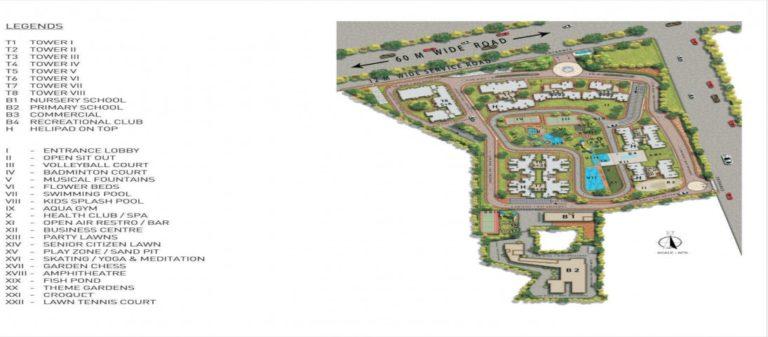 Pareena Micasa Gurgaon, Sohna Road Flats & Apartments, Luxury Site-Plan