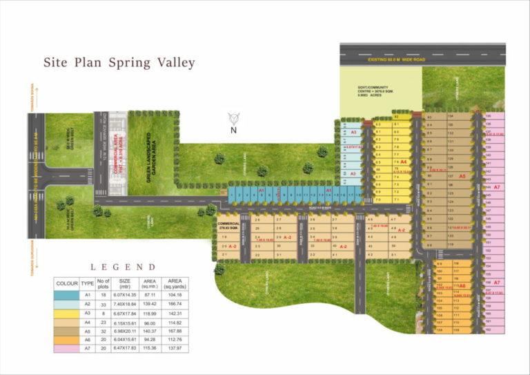 Pyramid Spring Valley DDJAY Affordable Plots Sector 35 Sohna Affordable, Affordable Plots Site-Plan
