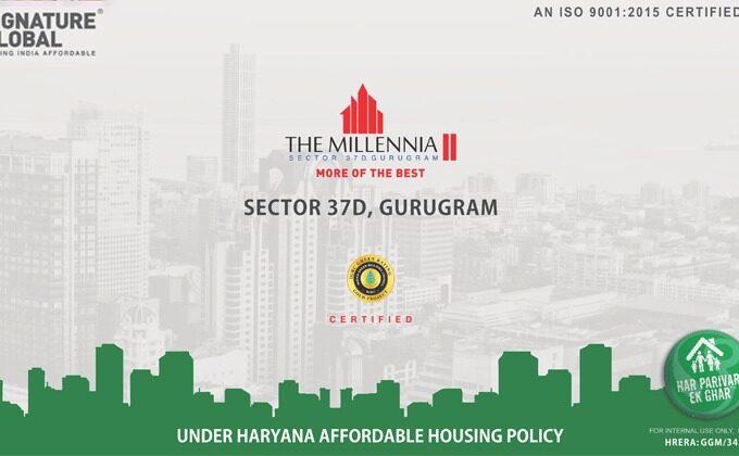 Signature Global The Millennia 2 Affordable Housing Sector 37D Gurgaon Gurugram Dwarka Expressway Affordable Affordable Homes