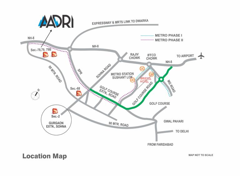 Supertech Aadri Plots Gurgaon New Gurgaon (NH8) Affordable Affordable Plots Location-Map